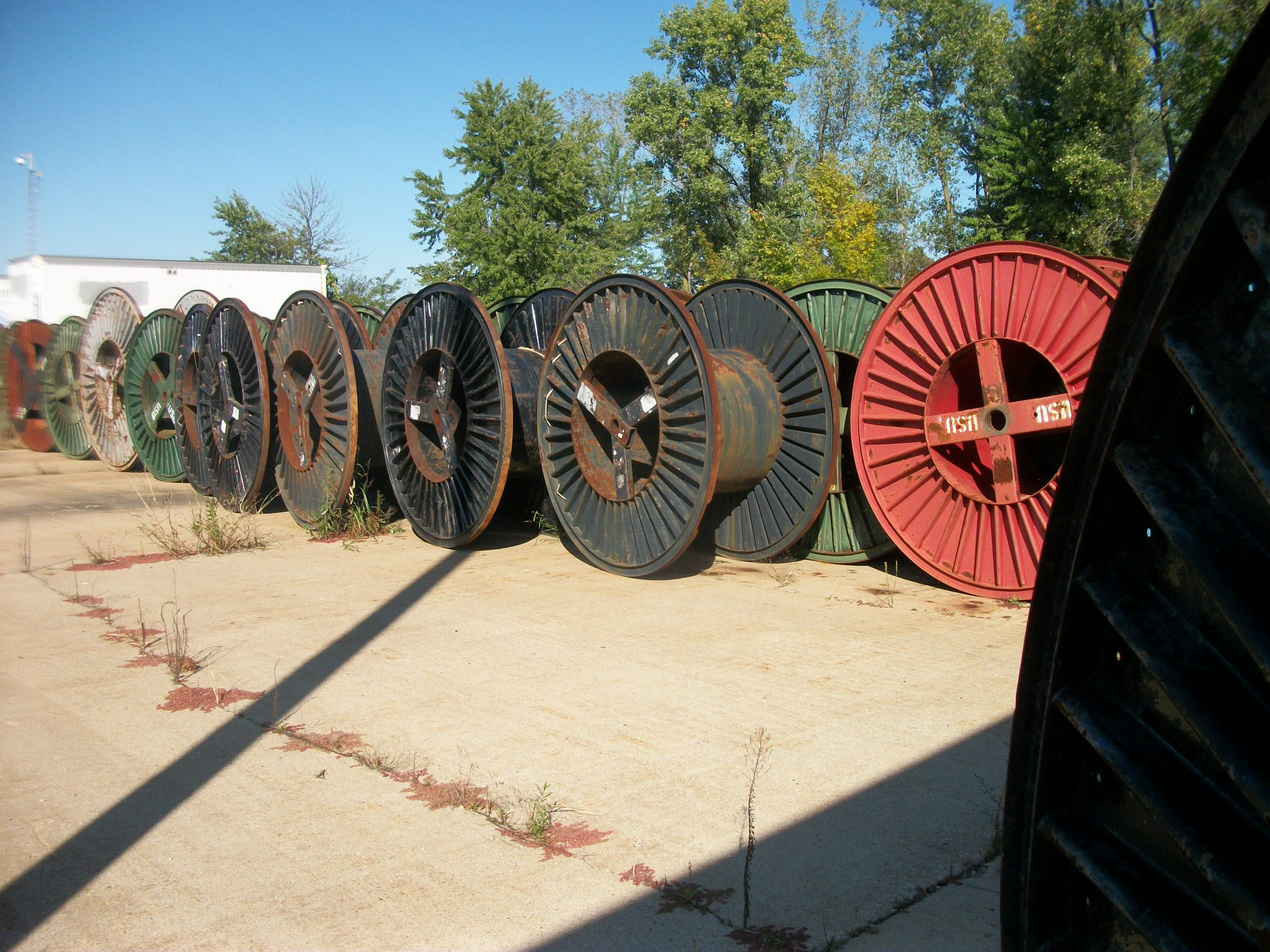 steel cable reels  82 u2033 tall x 42 u2033 wide  many to pick from